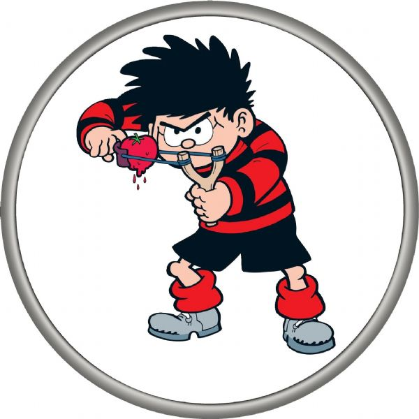 DENNIS THE MENACE 4x4 Spare Wheel Cover DECAL STICKER